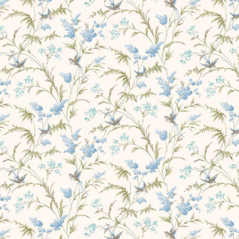 Albany Jasmine Blue Wallpaper - Product code: 98841
