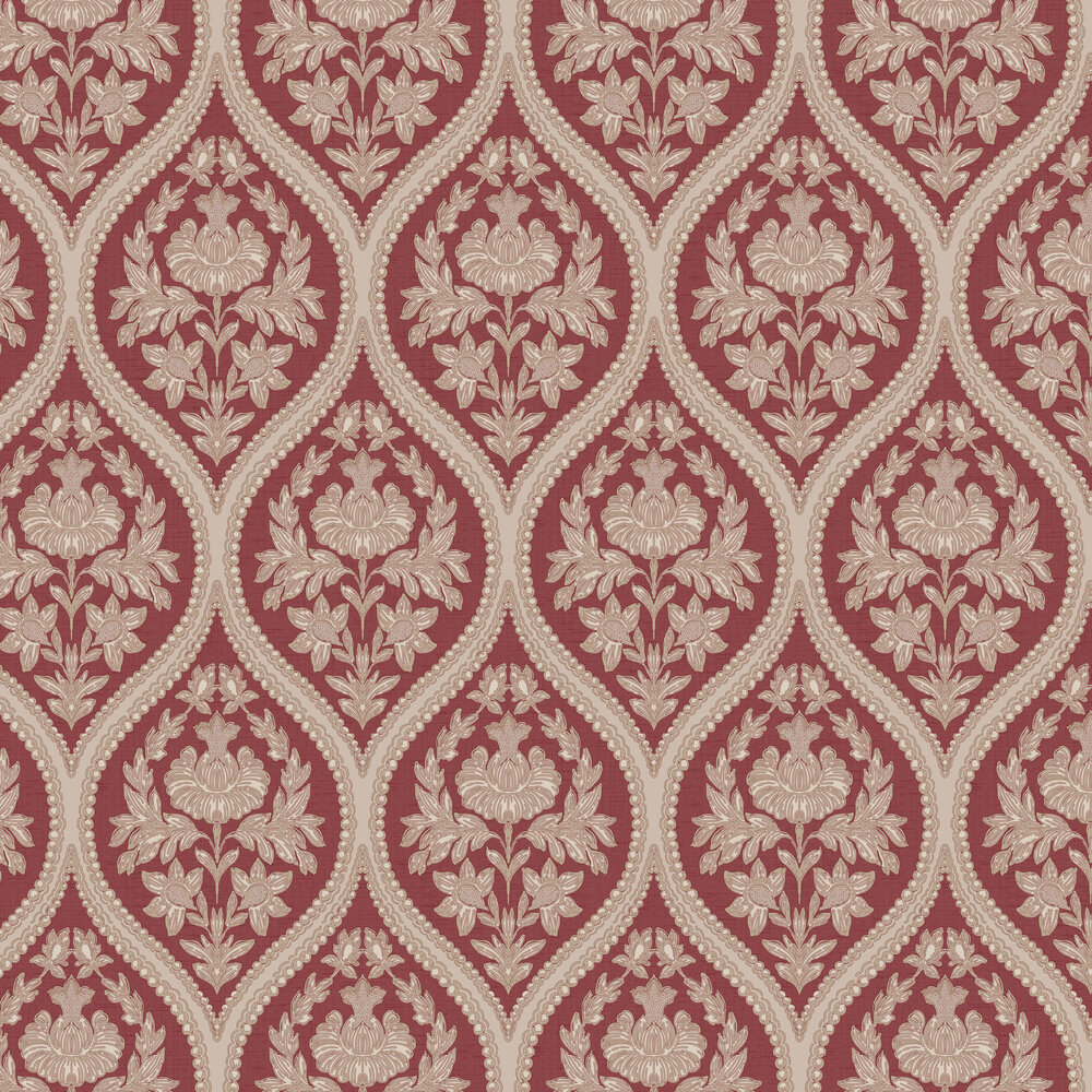 Pienza Wallpaper - Red - by Albany