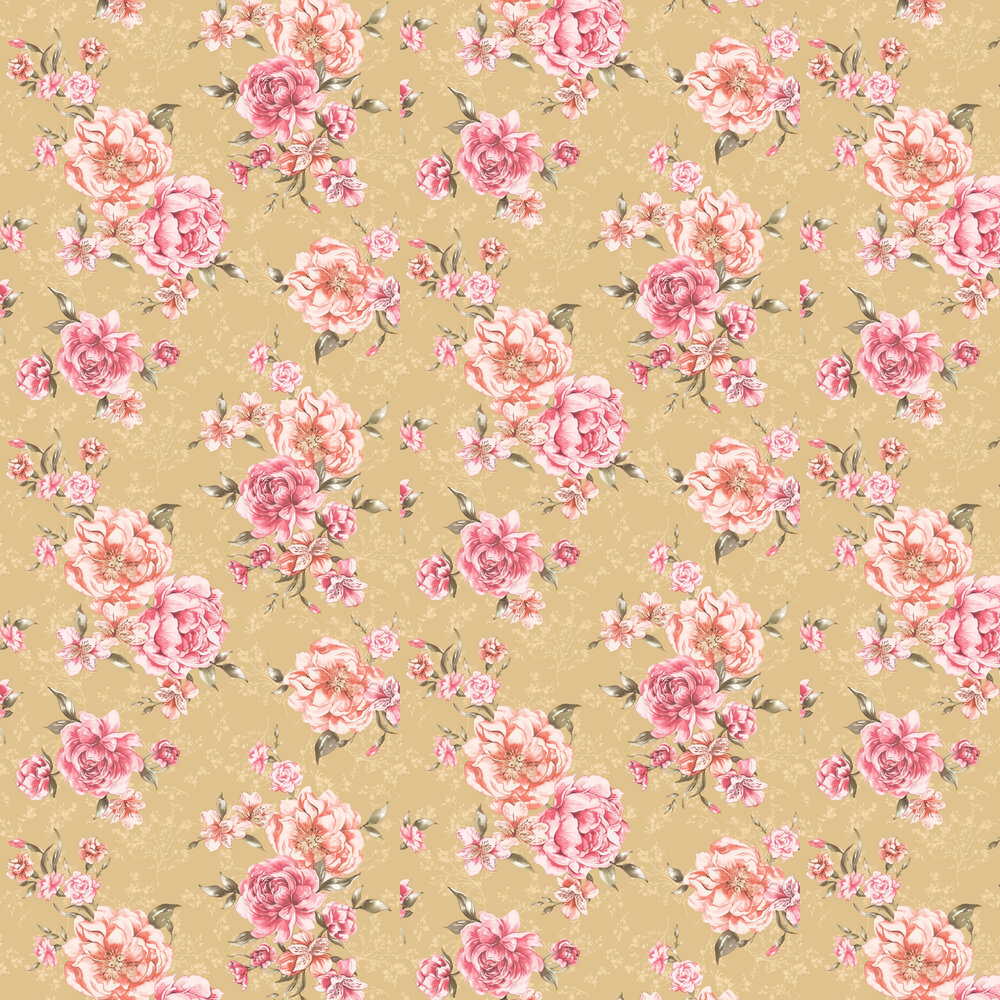 Josephine Wallpaper - Pale Gold - by Albany