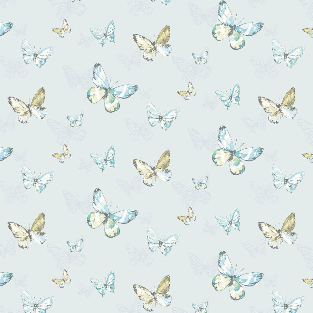 Amelia Wallpaper - Pale Blue - by Albany