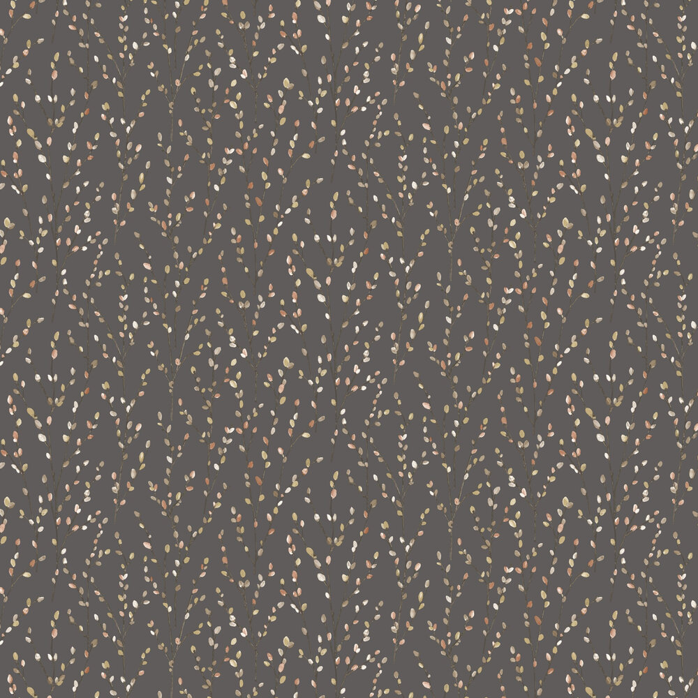 Willow Wallpaper - Charcoal - by Albany