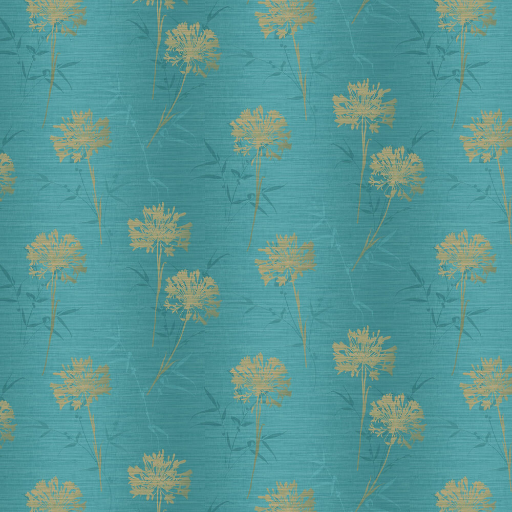 Arthouse Kimora Teal / Gold Wallpaper - Product code: 293002