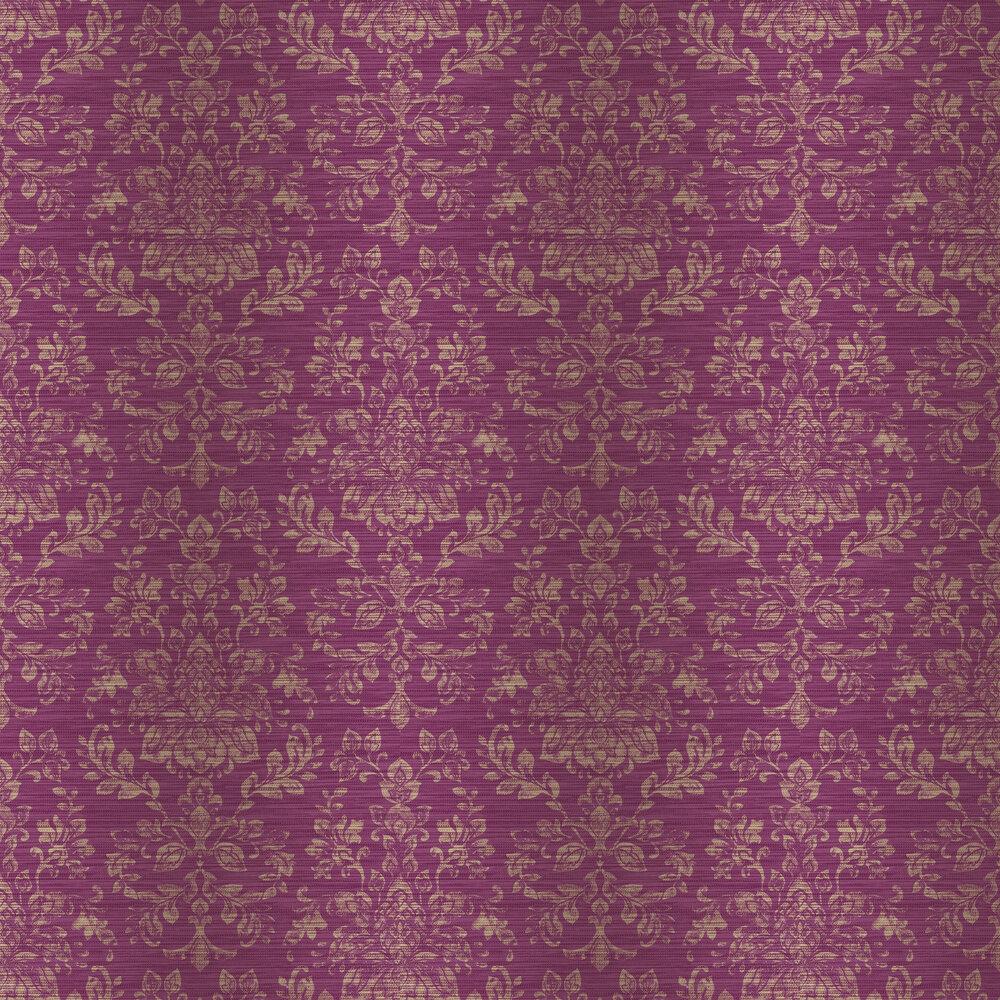 Kyasha Wallpaper - Cranberry Pink - by Arthouse