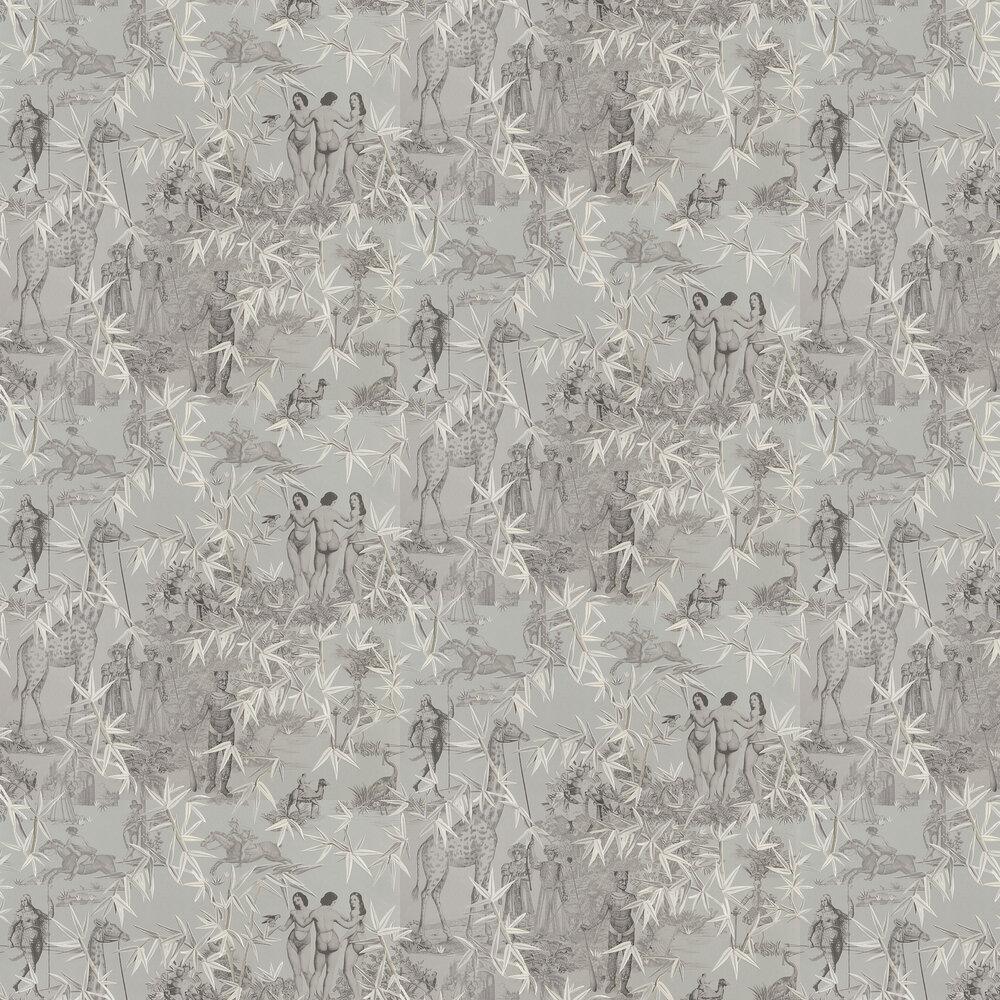 Exotisme Wallpaper - Argent - by Christian Lacroix