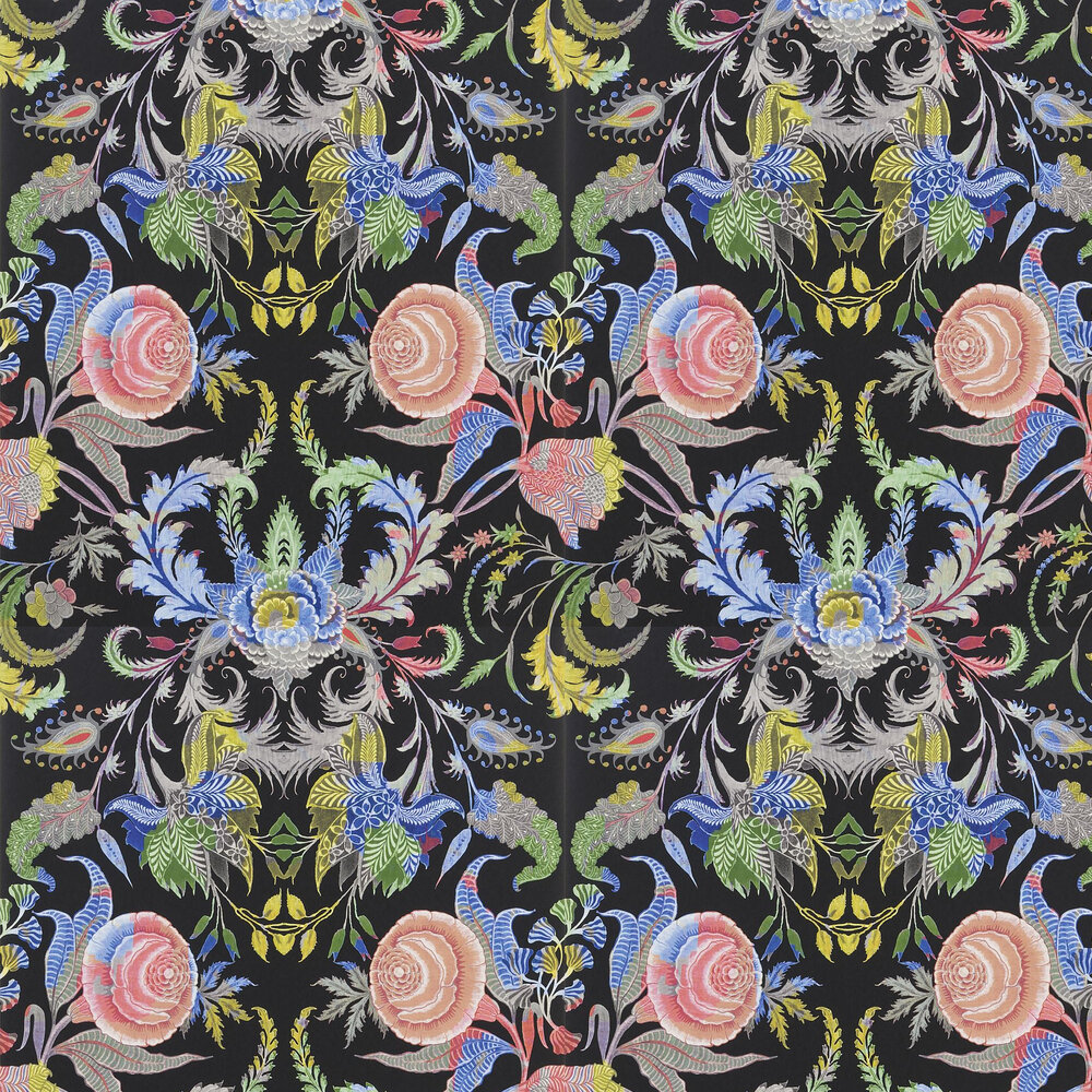 Noailles Wallpaper - Nuit - by Christian Lacroix