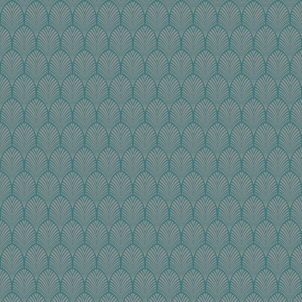 Gatsby Wallpaper - Teal - by Albany