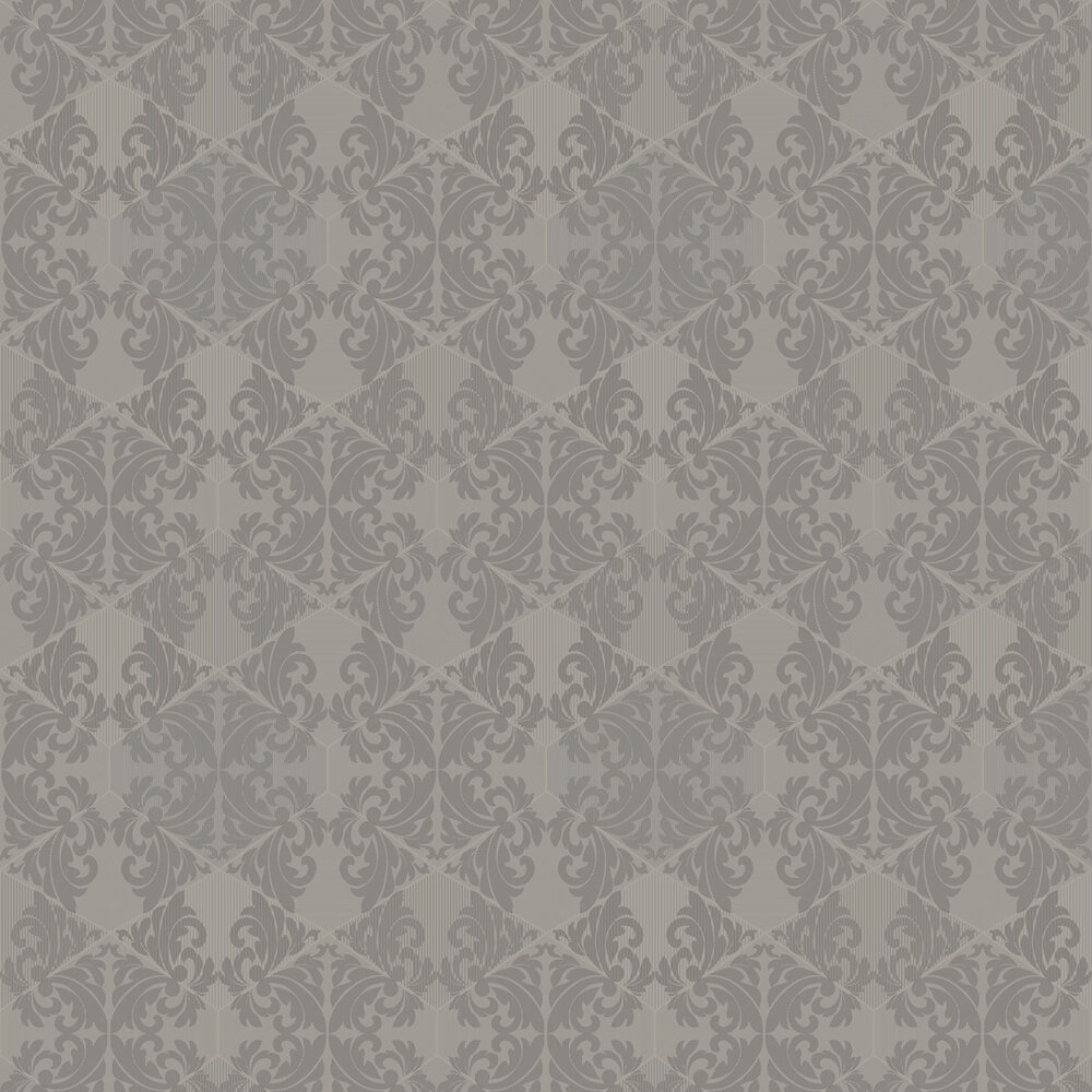 Zena Wallpaper - Taupe - by Albany