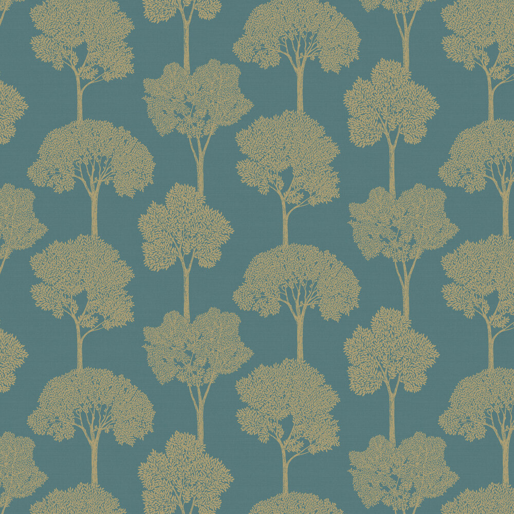 Ambleside Wallpaper - Teal - by Albany