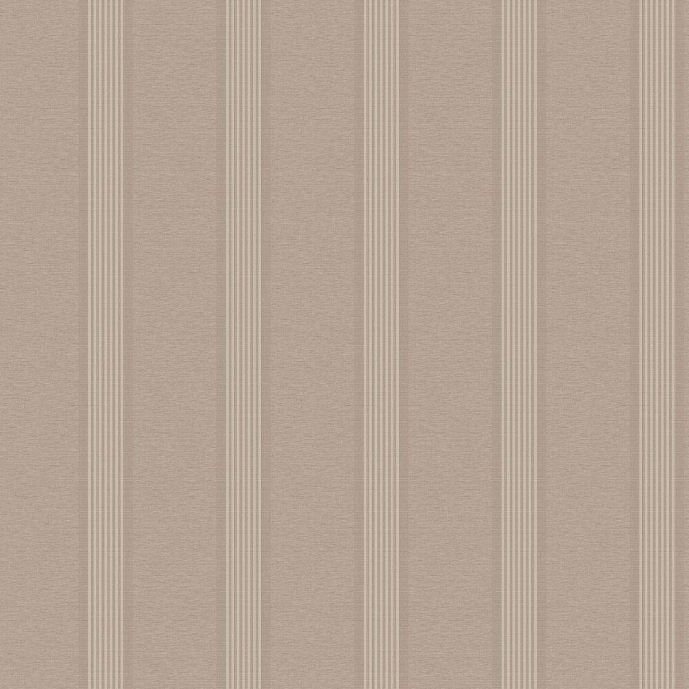 Ambleside Stripe Wallpaper - Taupe - by Albany
