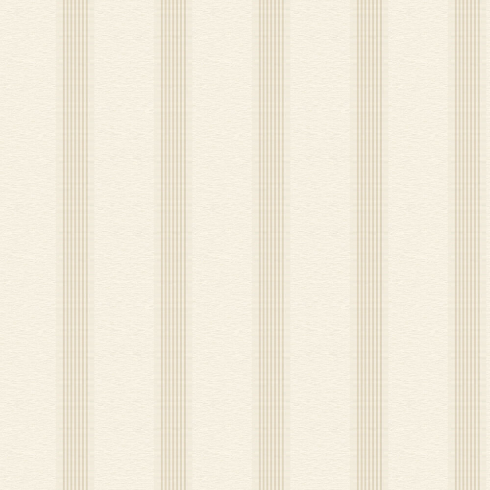 Ambleside Stripe Wallpaper - White - by Albany