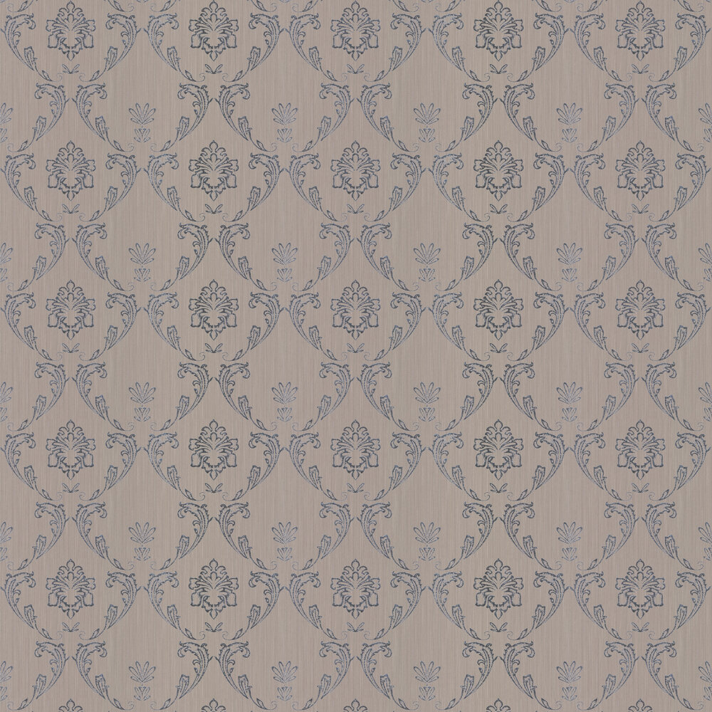 Silk Damask Wallpaper - Taupe - by Architects Paper