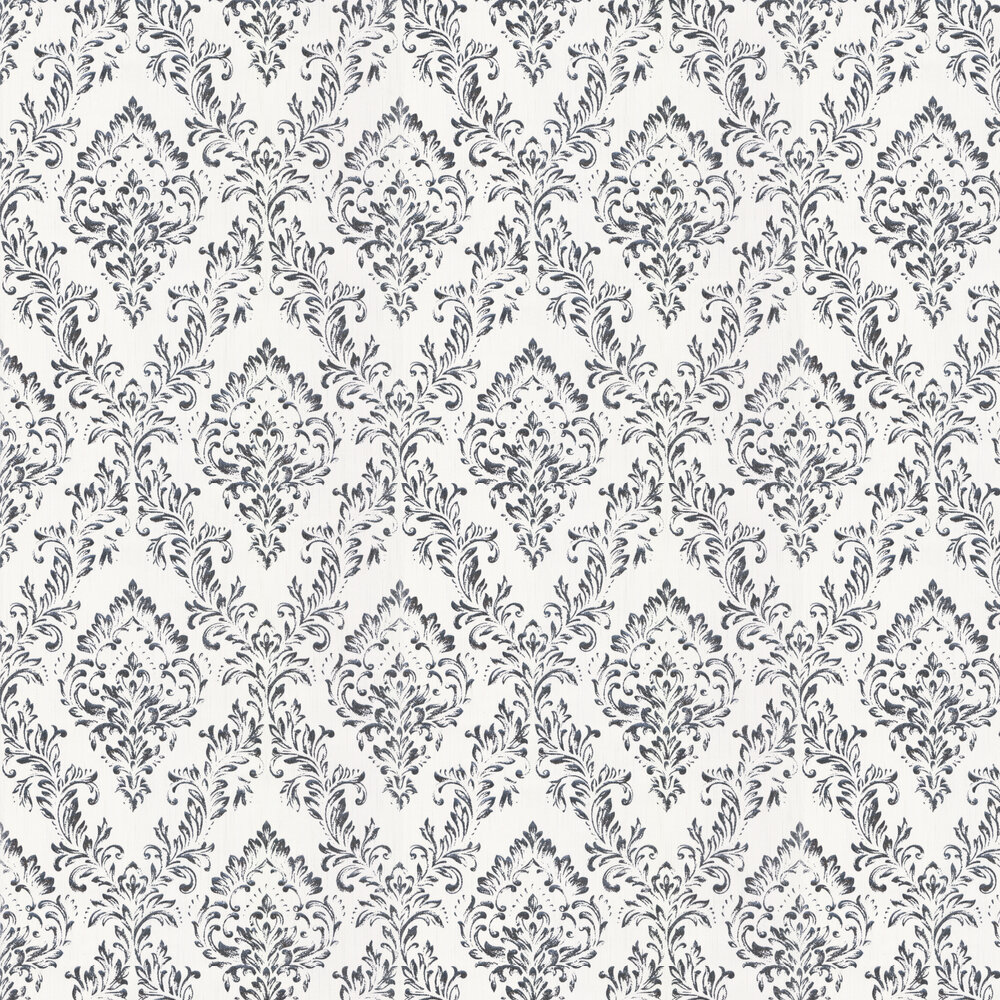 Foil Damask Wallpaper - Opal White - by Architects Paper
