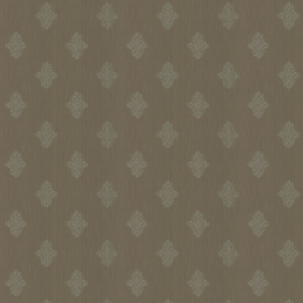 Architects Paper Silk Motif Chocolate Brown Wallpaper - Product code: 319464