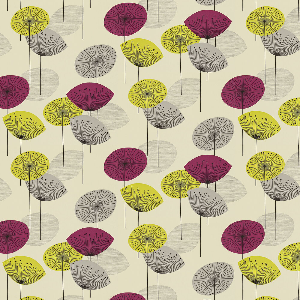 Sanderson Dandelion Clocks Blackcurrant Wallpaper - Product code: DOPWDA102