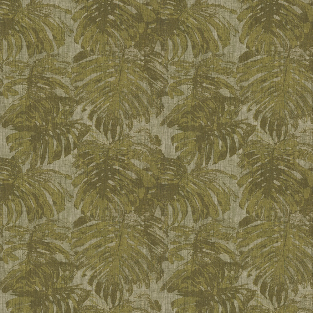 Cassolo Wallpaper - Olive Green - by Carlucci di Chivasso