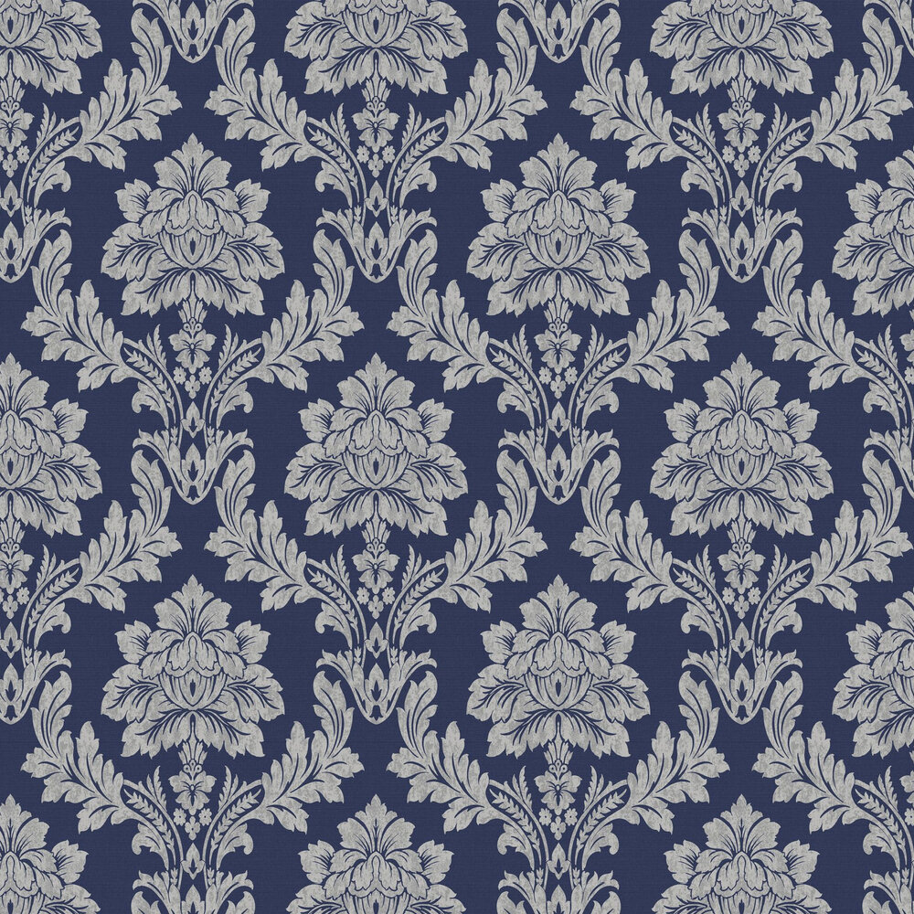 Salvador Wallpaper - Navy Blue - by Albany