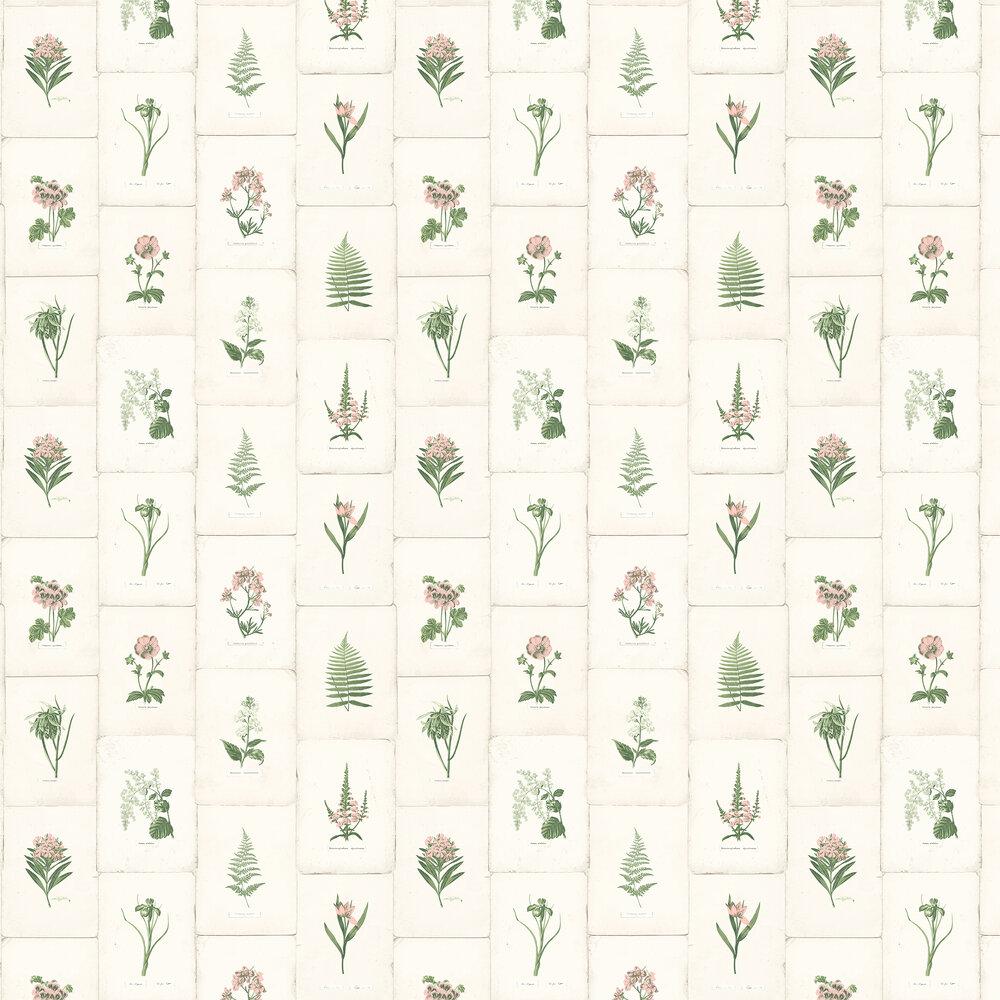 Elizabeth Ockford Maund Pink & Green Wallpaper - Product code: WP0090903