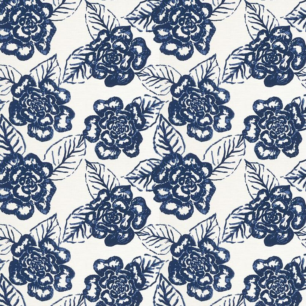 Bonita Springs Wallpaper - Navy - by Thibaut