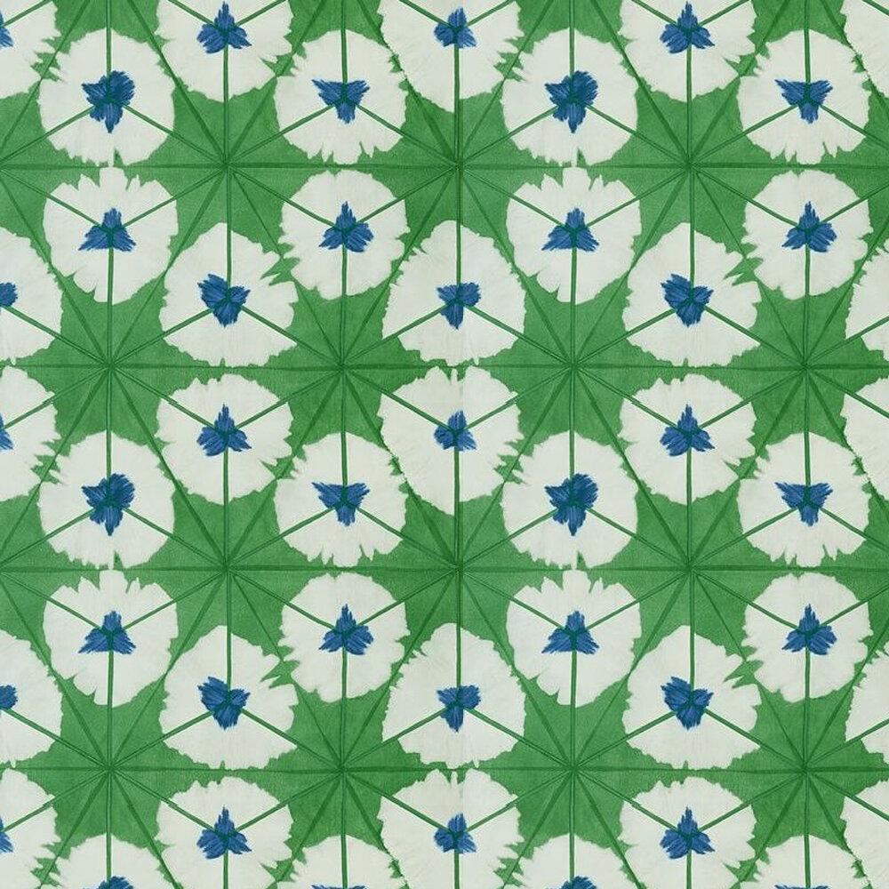 Sunburst Wallpaper - Emerald Green - by Thibaut