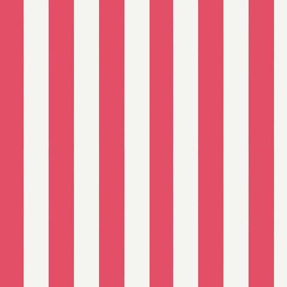 Thibaut Summer Stripe Raspberry Wallpaper - Product code: T13136