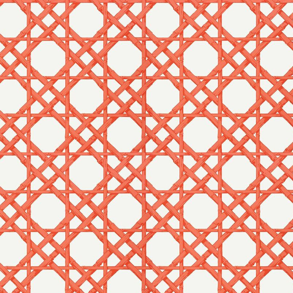 Cyrus Cane By Thibaut Coral Wallpaper T13142