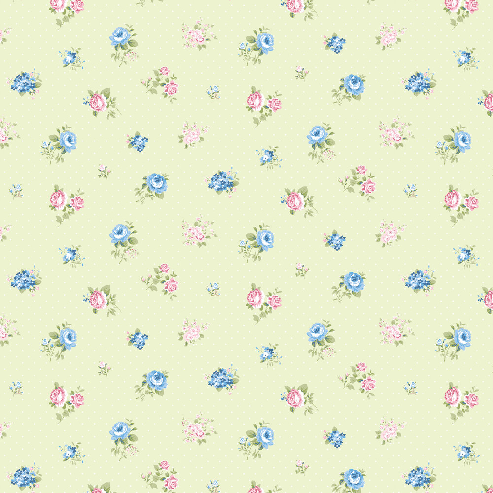 Lisianthus Wallpaper - Verde - by Coordonne