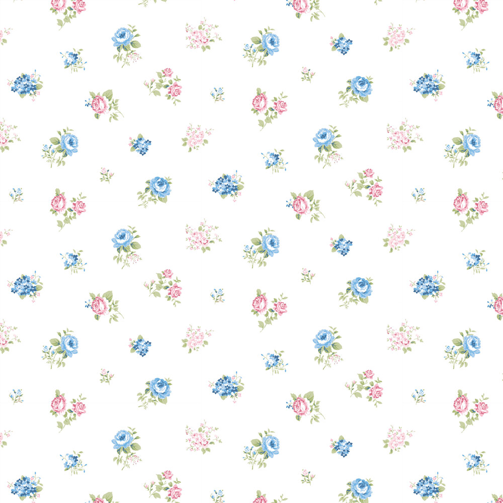 Lisianthus Wallpaper - Blanco - by Coordonne