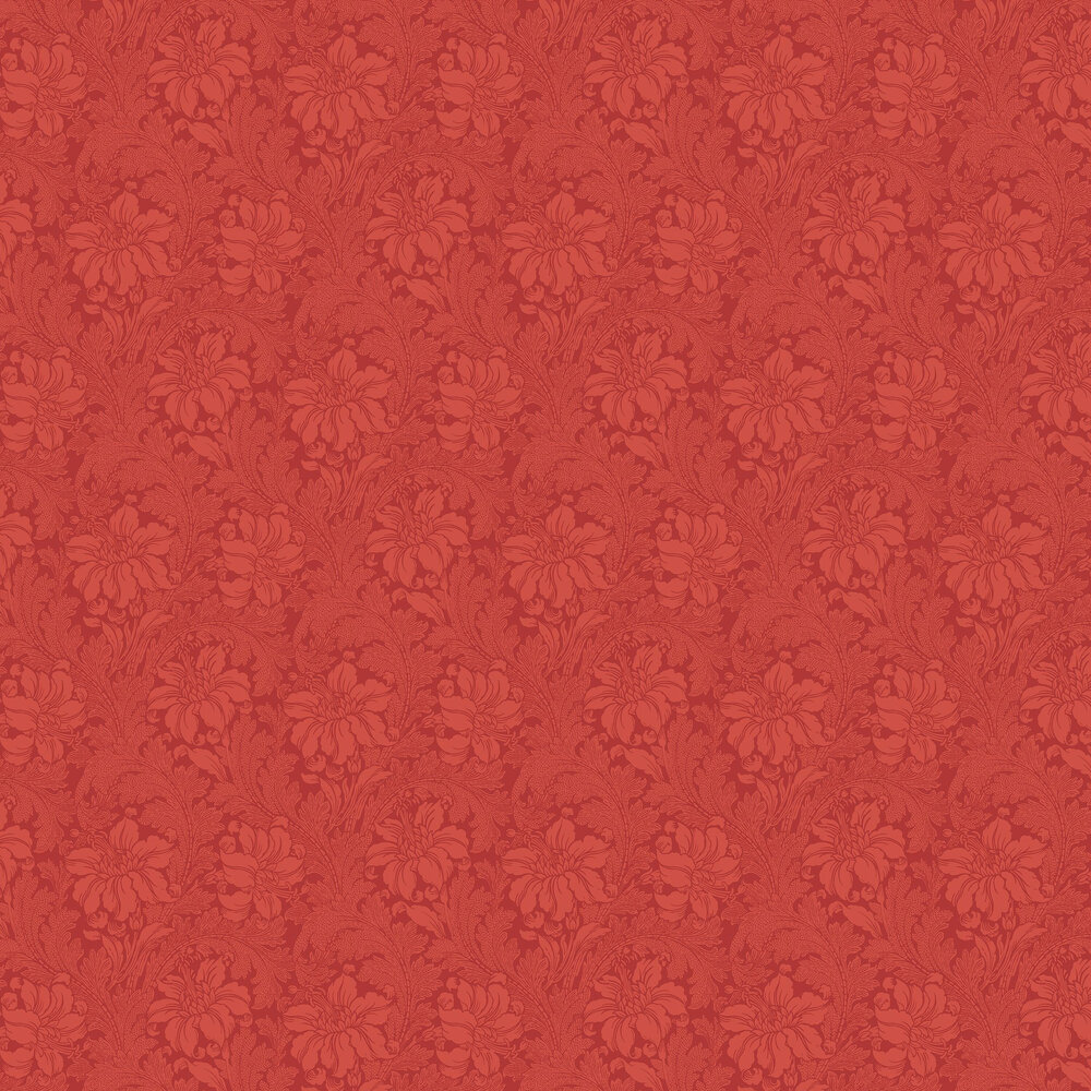 Acanthus Wallpaper - Red - by Engblad & Co