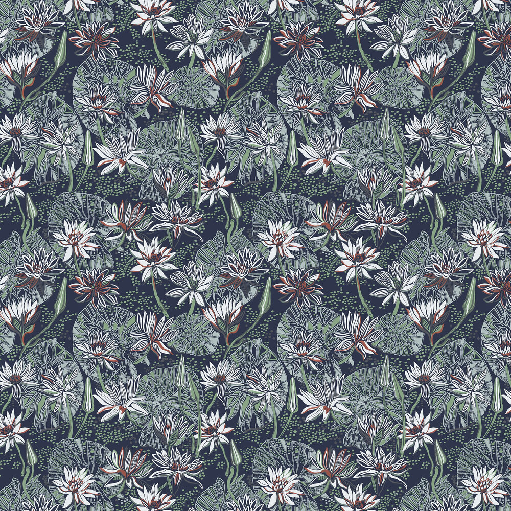 Engblad & Co Nackros Blue / Green Wallpaper - Product code: 5372