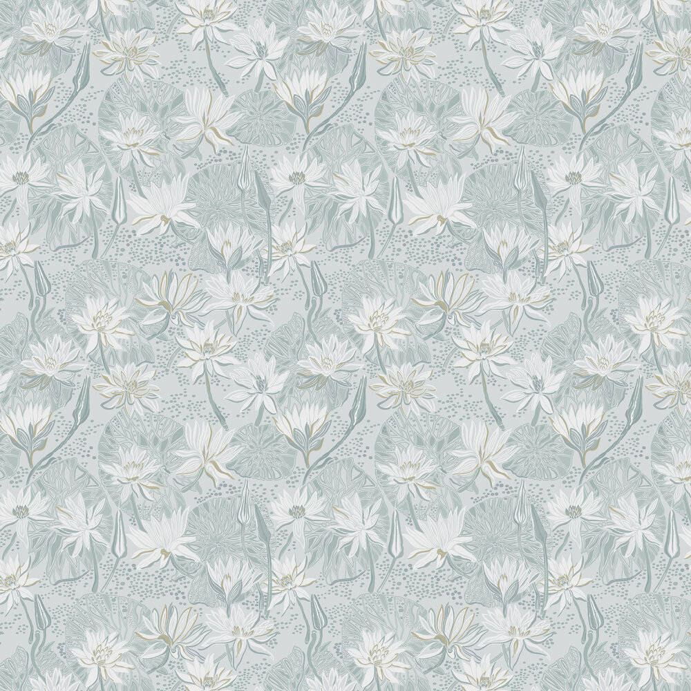 Engblad & Co Nackros Blue / Grey Wallpaper - Product code: 5373