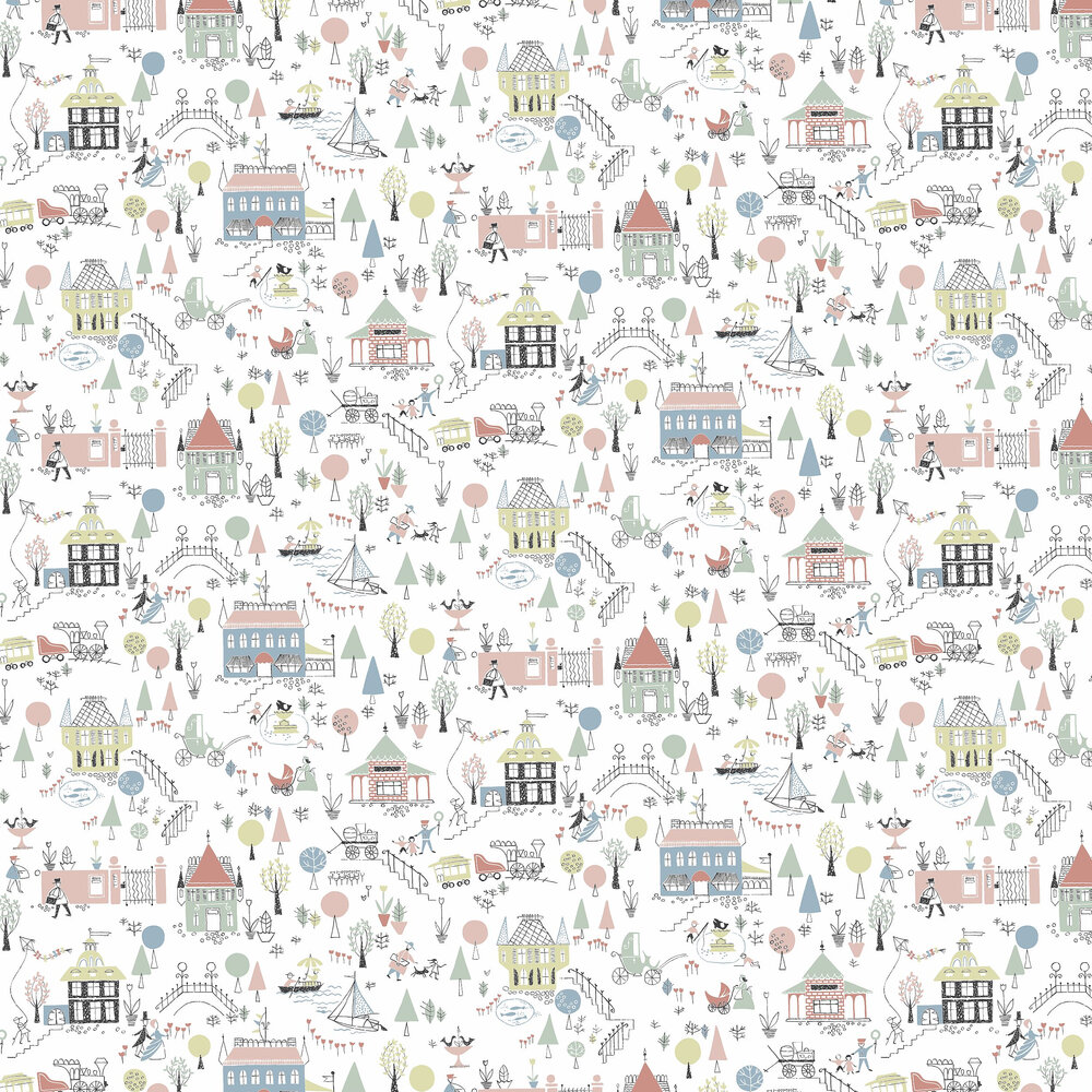 Garda Wallpaper - Multi-coloured - by Engblad & Co