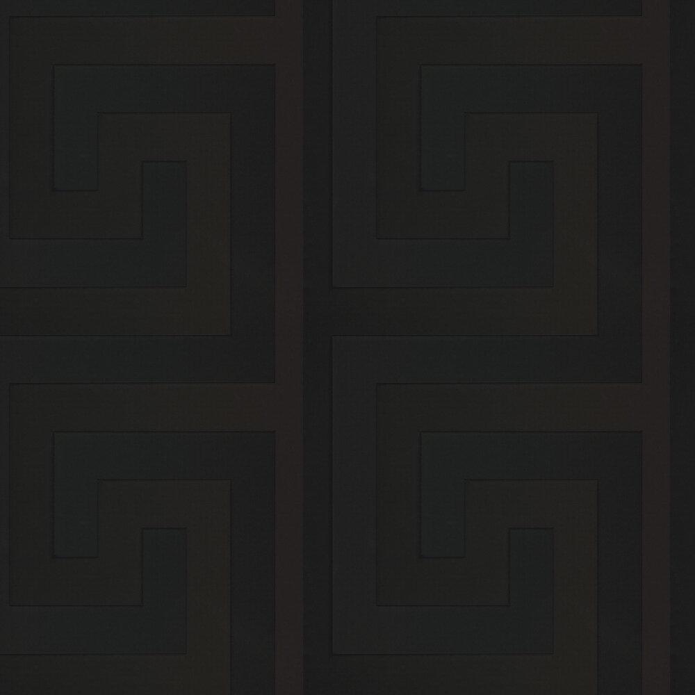 Versace Large Greek Key Black  Wallpaper - Product code: 93523-4