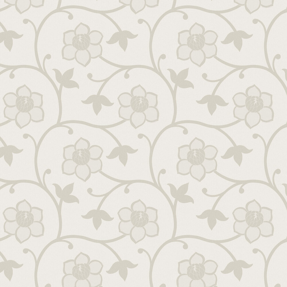 Clematis Wallpaper - Beige - by Engblad & Co
