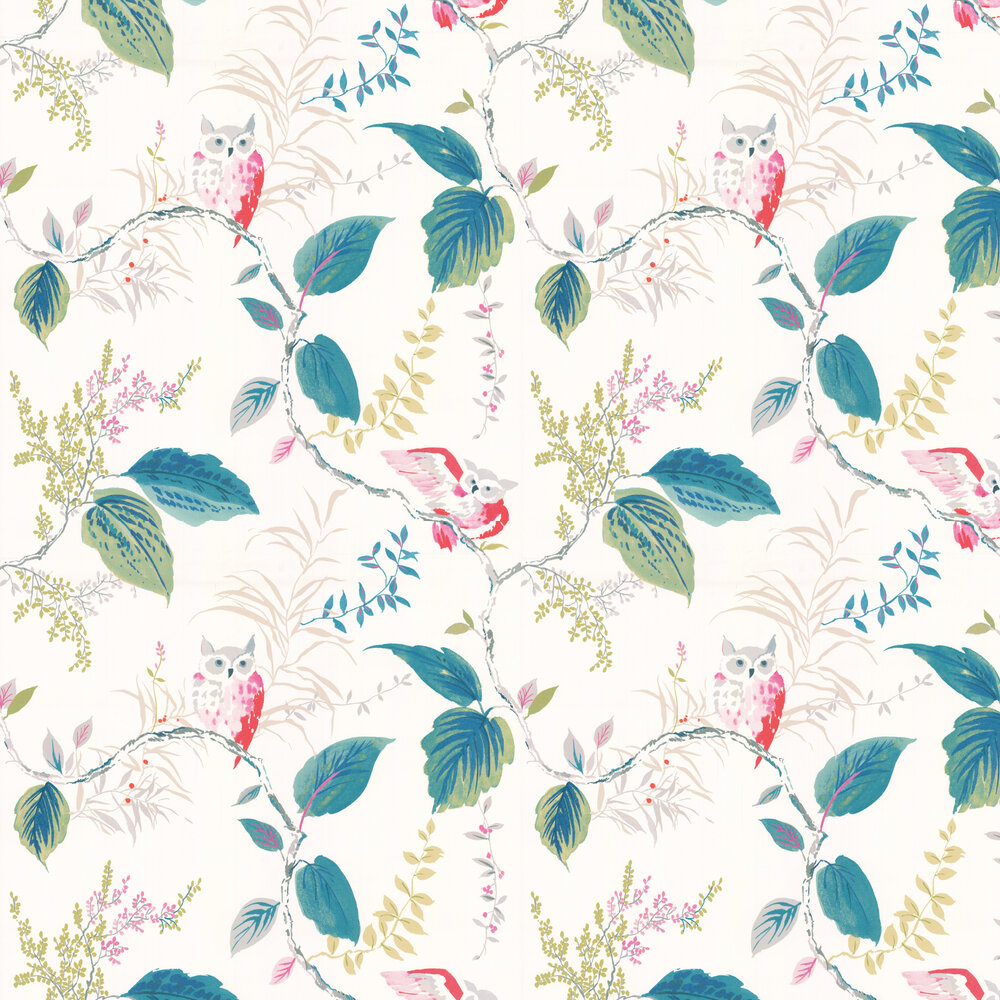 Owlish By Kate Spade Multi Coloured Wallpaper Wallpaper Direct