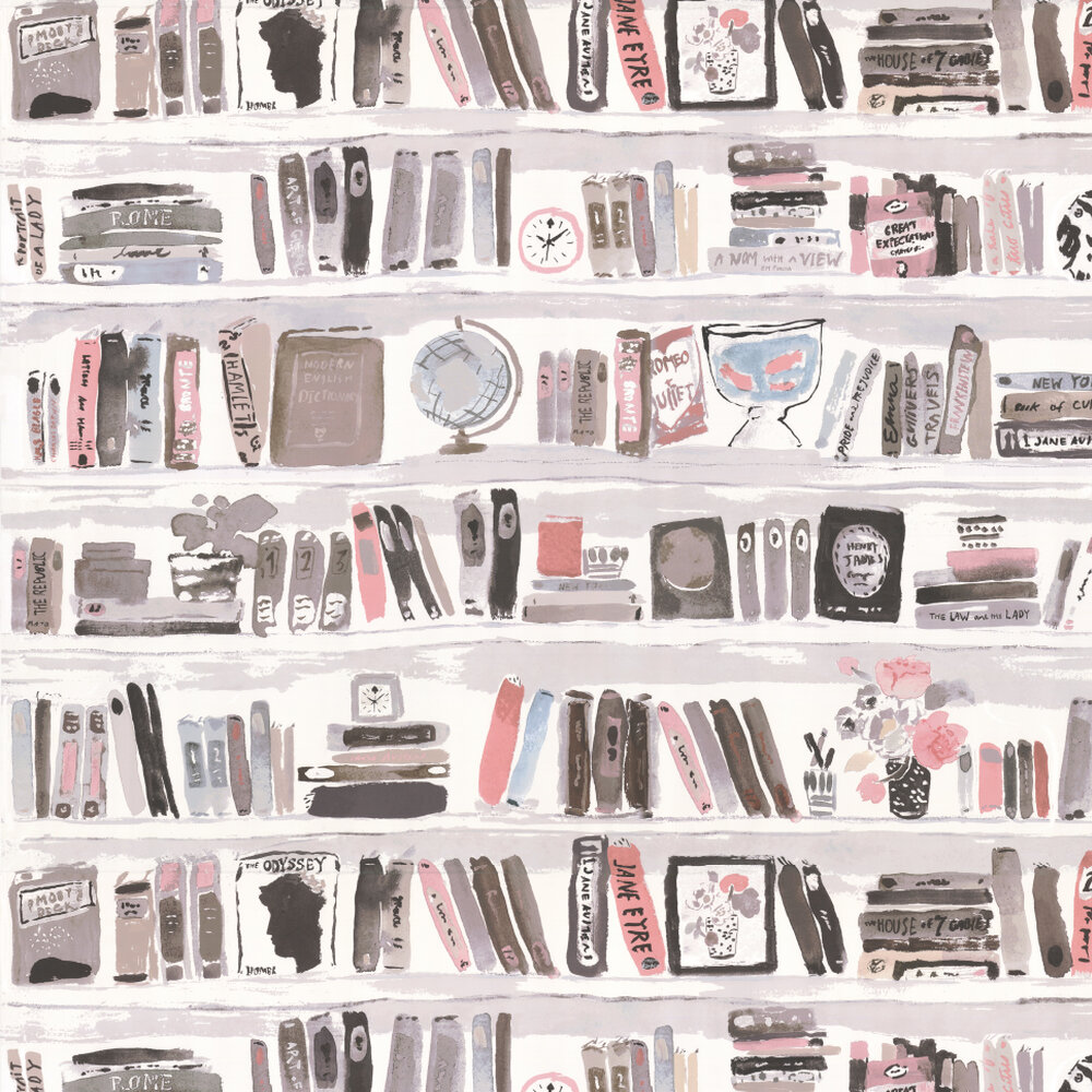 Bella Books Wallpaper - Blush - by Kate Spade