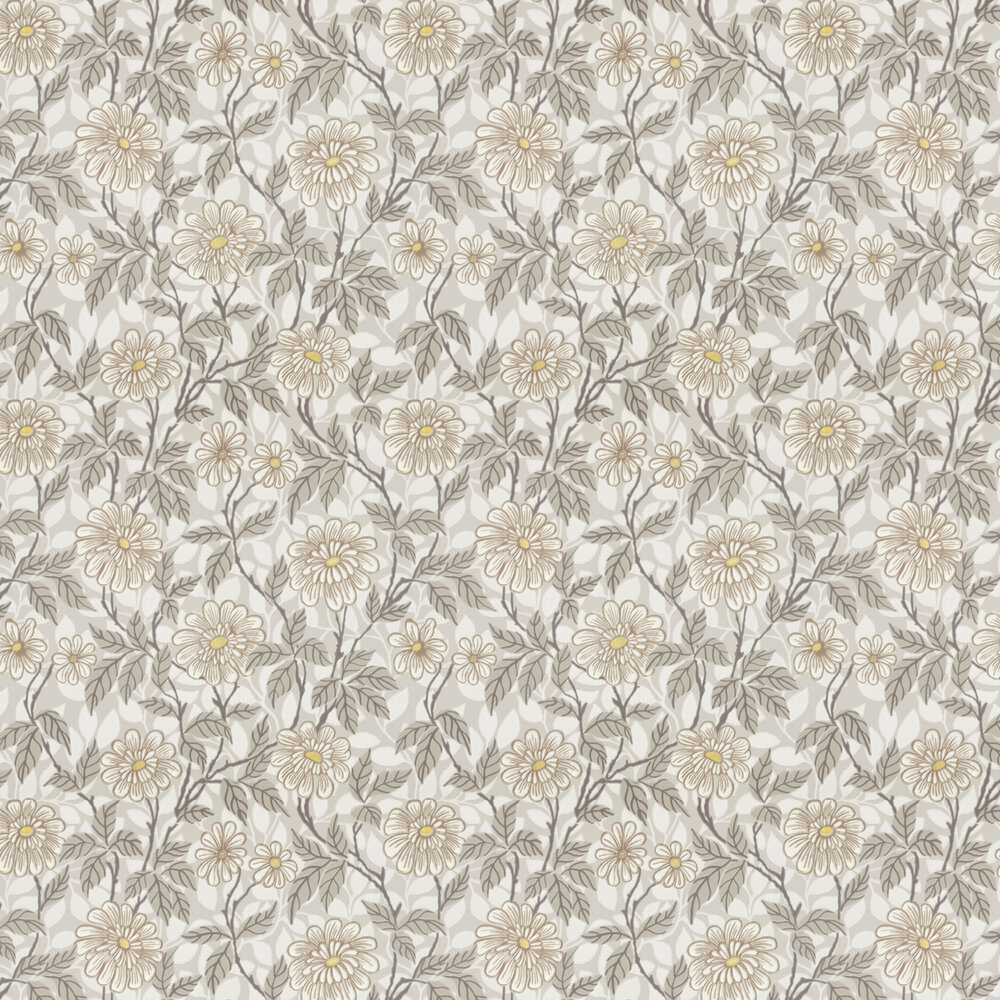 Zinnia Wallpaper - Taupe - by Sandberg