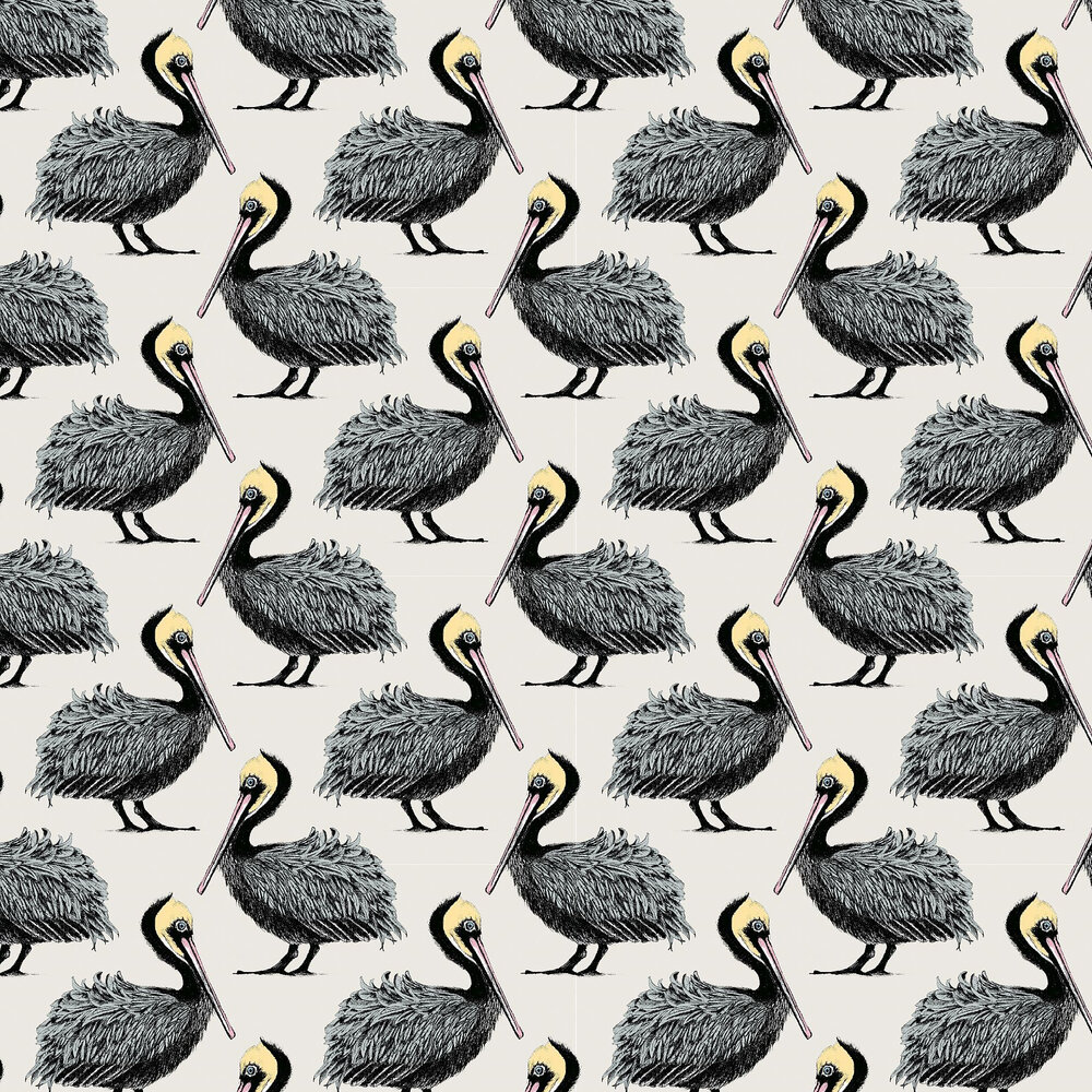 Pelican Wallpaper - Oyster - by Petronella Hall