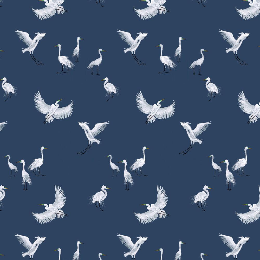 Egrets Wallpaper - Twilight - by Petronella Hall