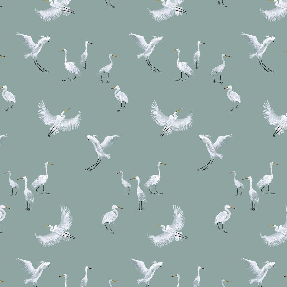Petronella Hall Egrets Topaz Wallpaper - Product code: E-WZ