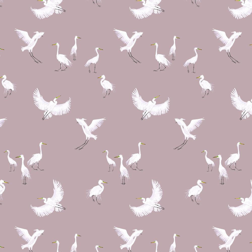 Egrets Wallpaper - Powder - by Petronella Hall