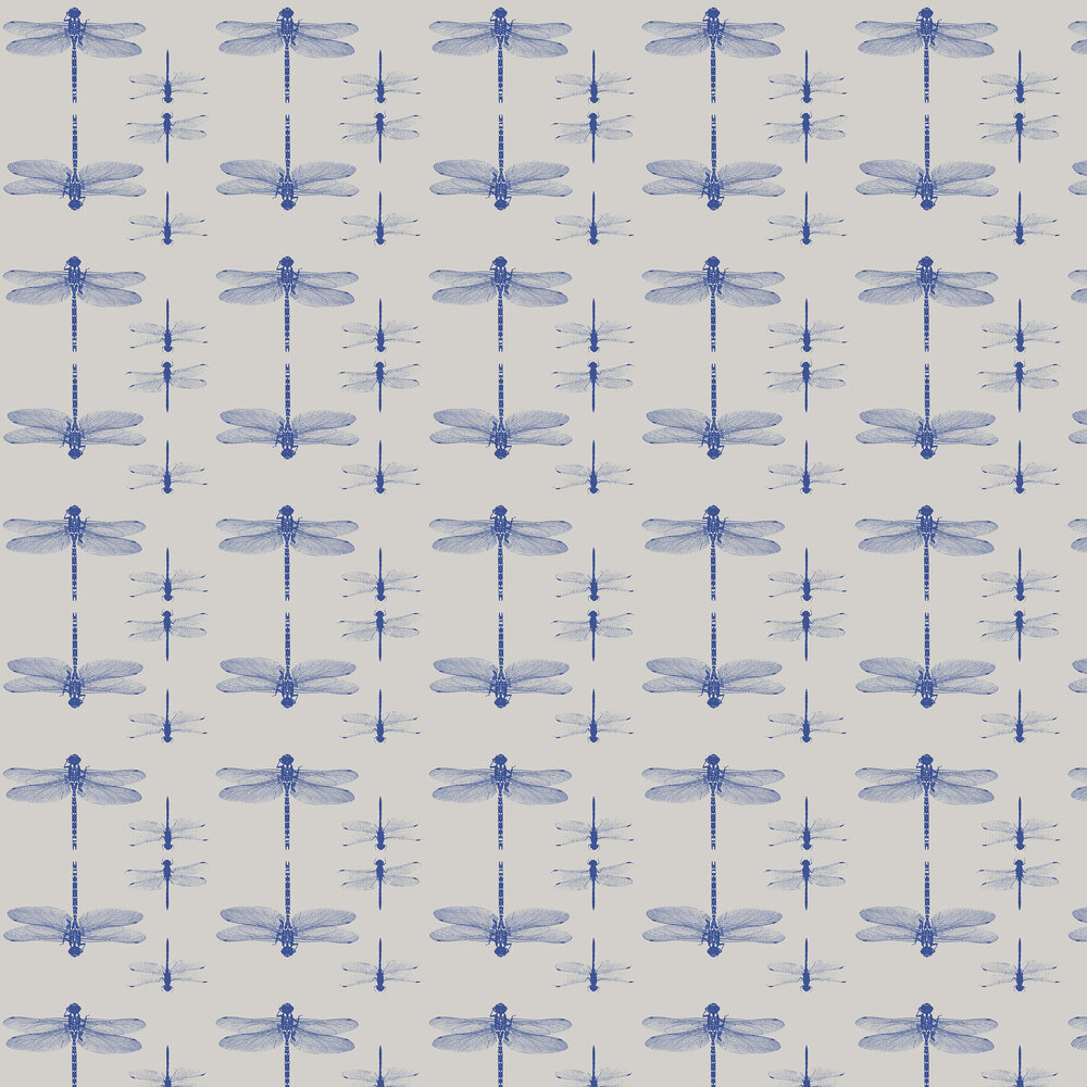 Petronella Hall Dragonfly Grey Wallpaper - Product code: D-WG