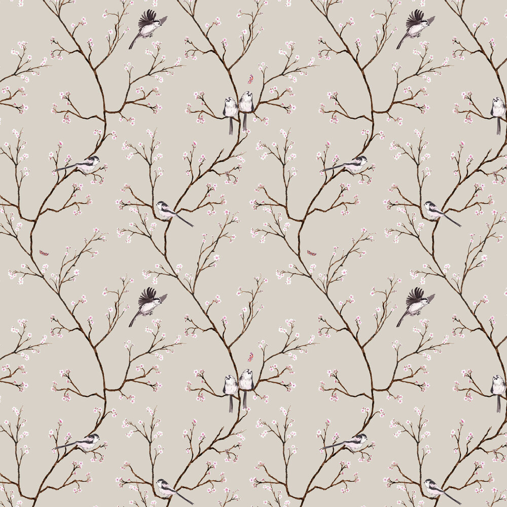 Blossom Wallpaper - Soft Beige - by Petronella Hall