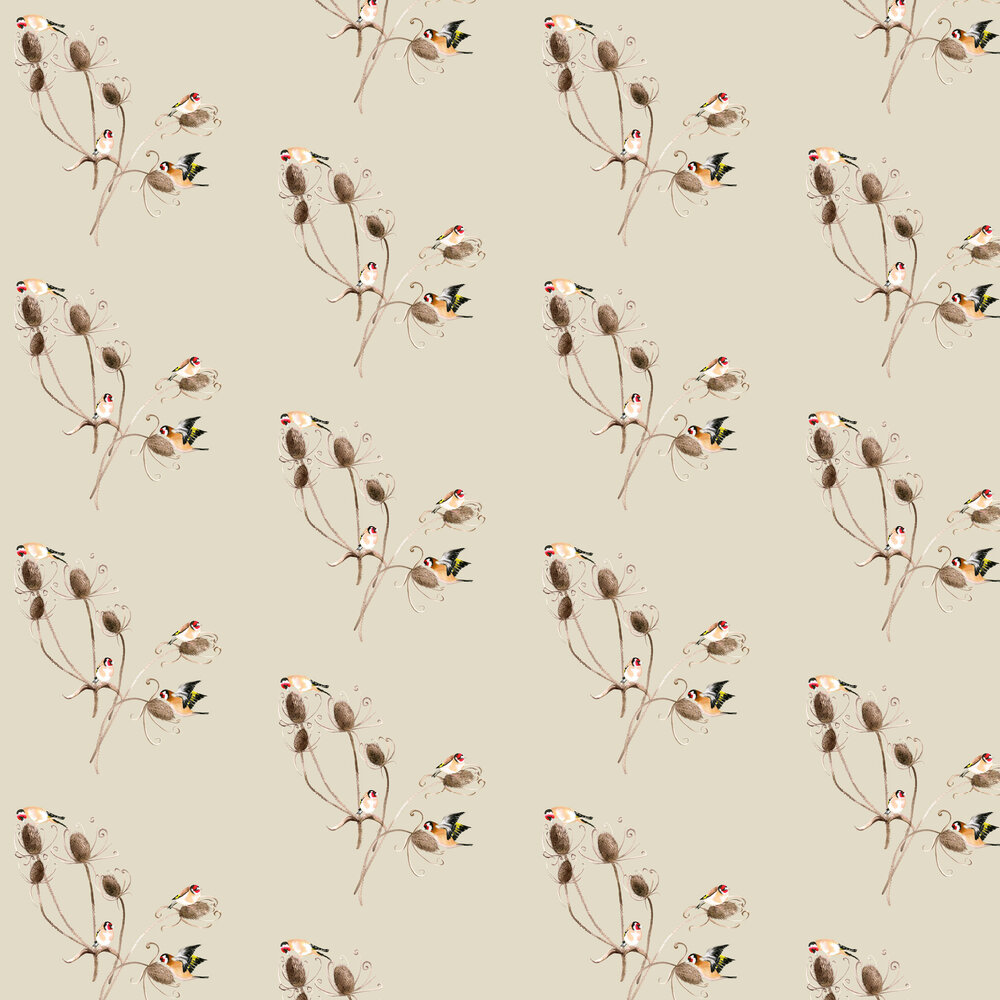 Petronella Hall Goldfinch Birch Wallpaper - Product code: G-WB