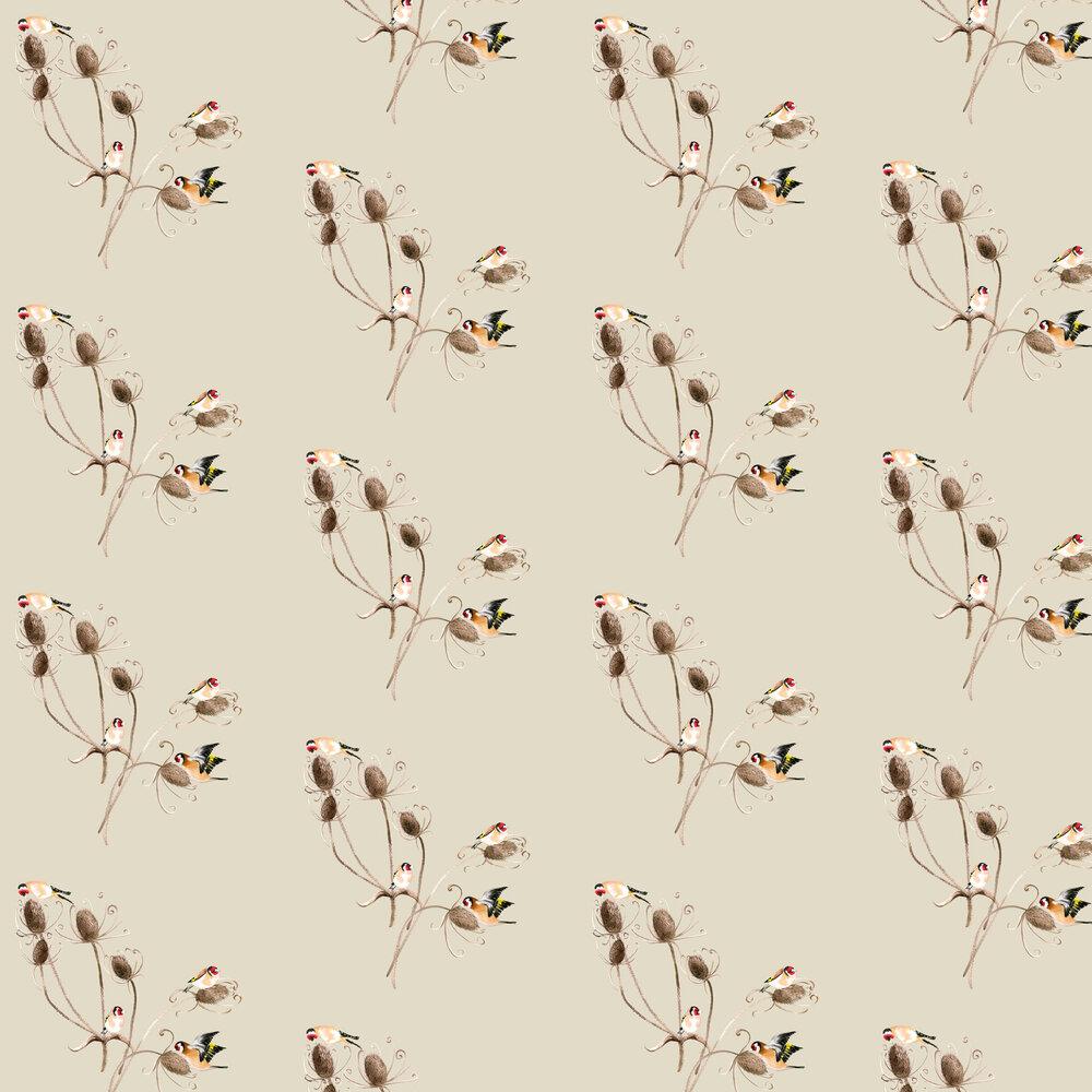 Goldfinch Wallpaper - Birch - by Petronella Hall