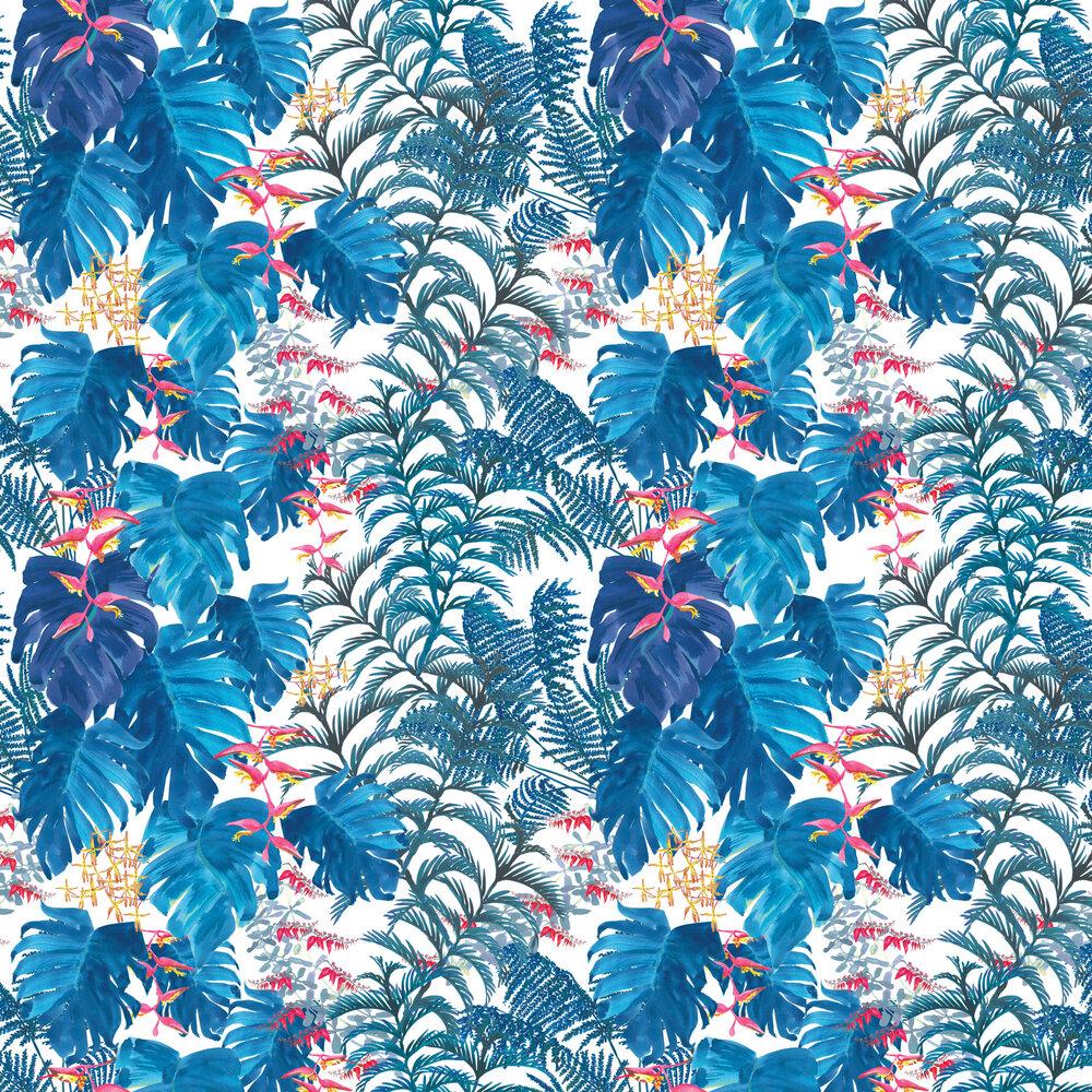 Petronella Hall Tropics Denim Wallpaper - Product code: T-WD