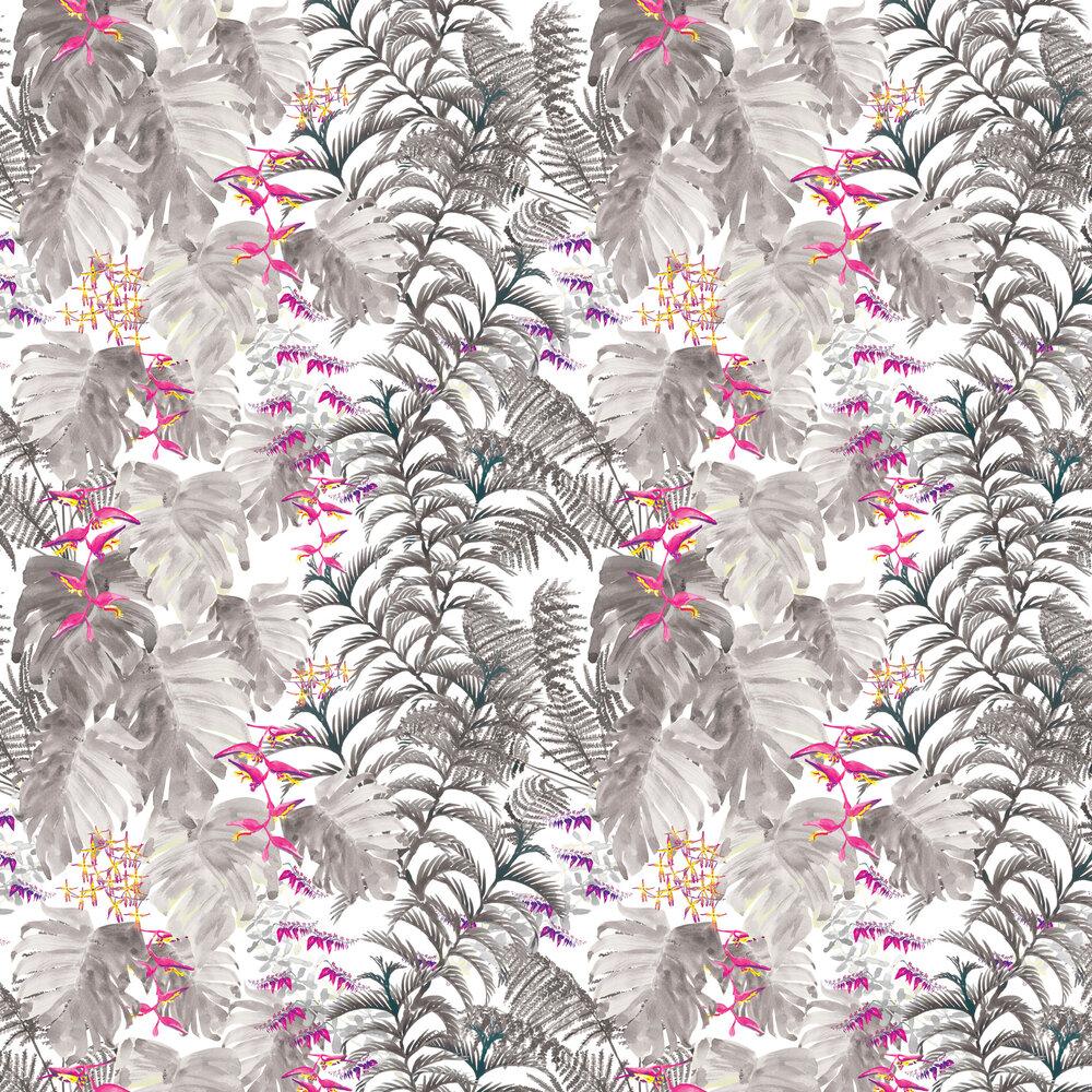 Tropics Wallpaper - Smoke - by Petronella Hall