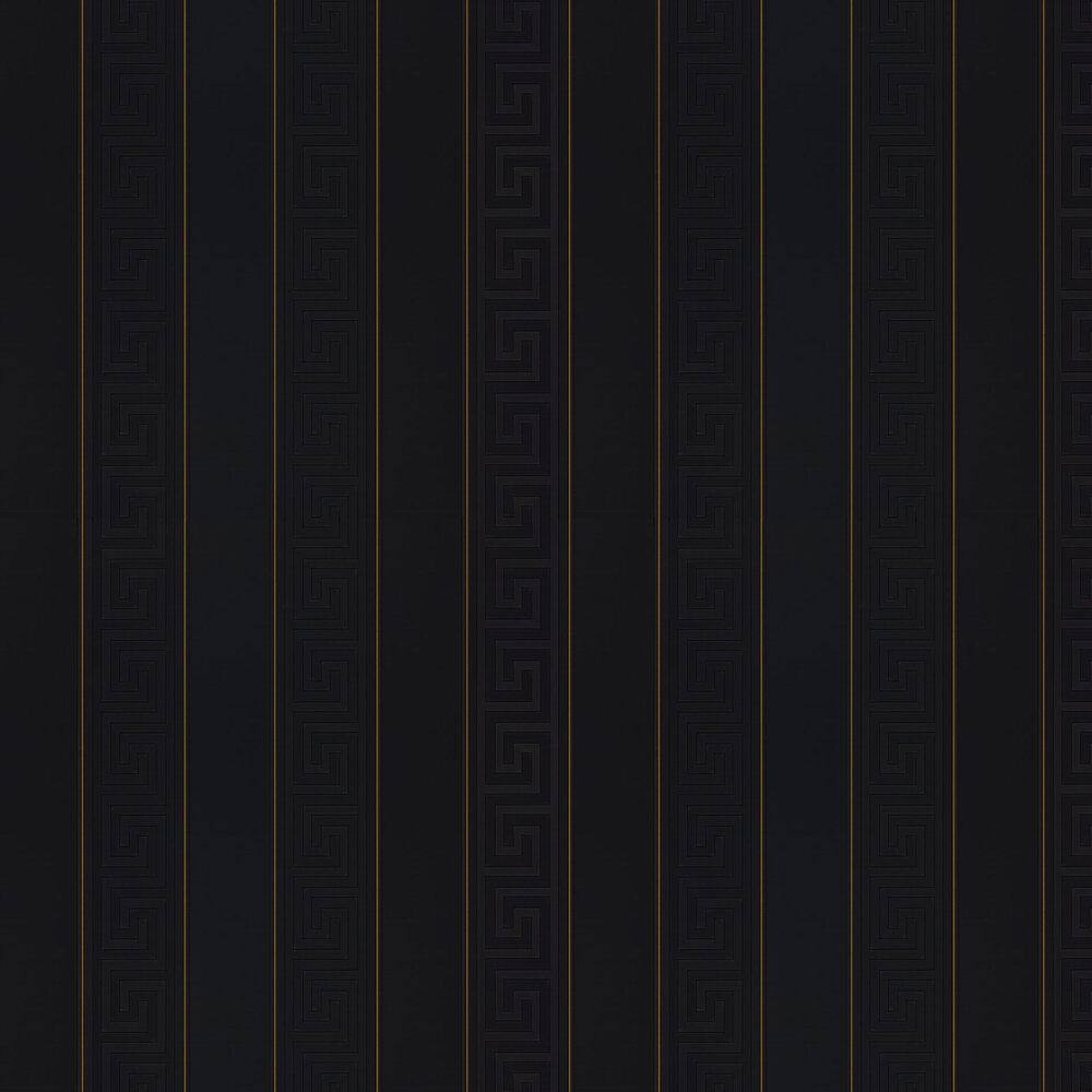 Greek Stripe By Versace Black Wallpaper Wallpaper Direct