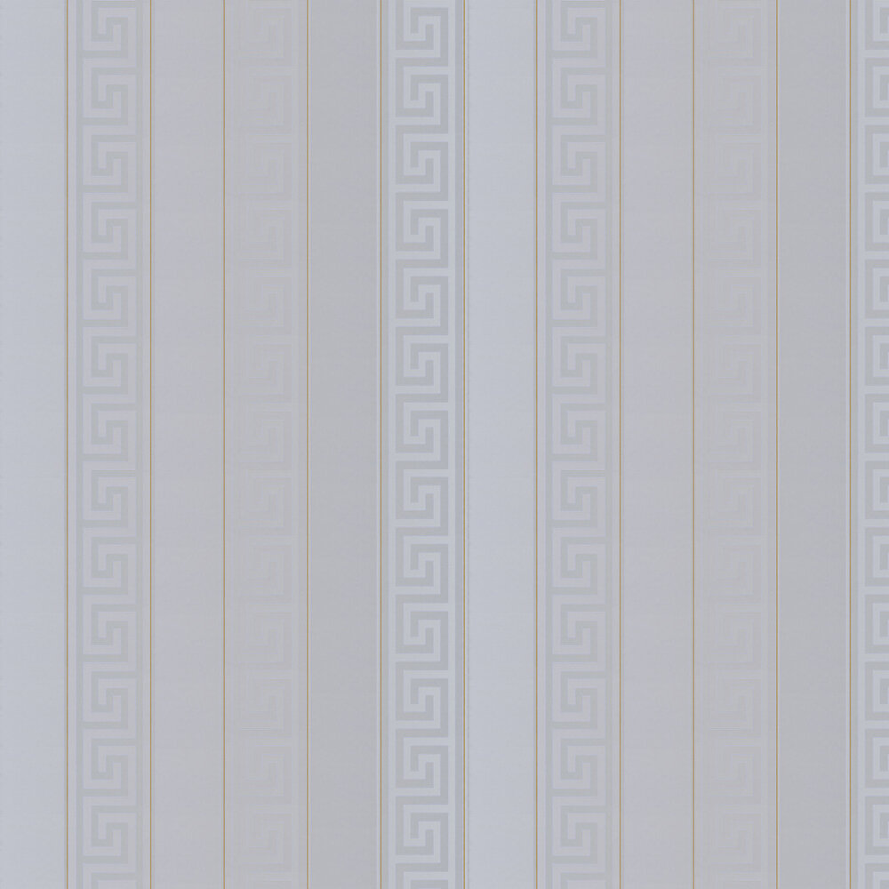 Versace Greek Key Stripe Silver Wallpaper - Product code: 93524-5