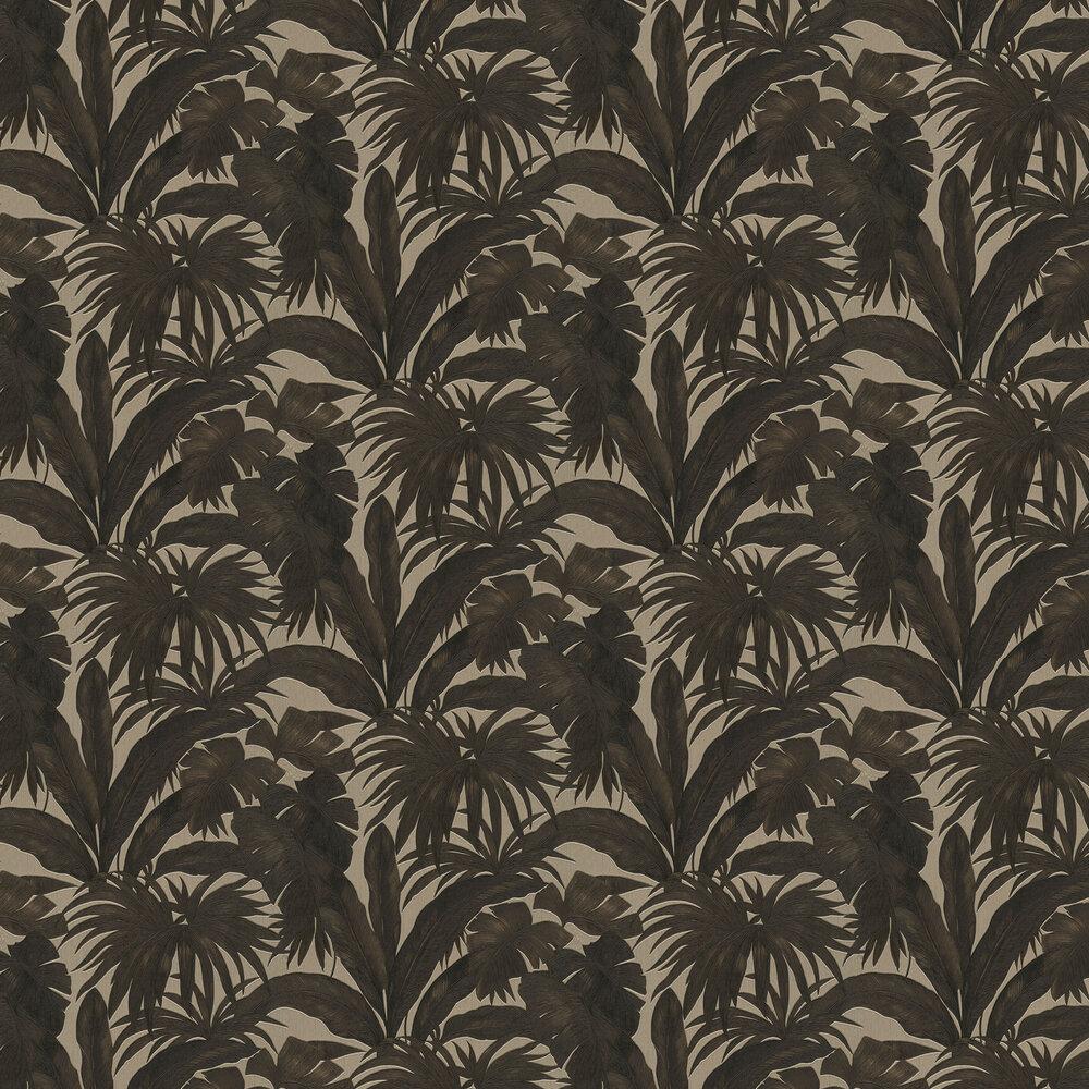 Giungla Wallpaper - Black / Gold - by Versace