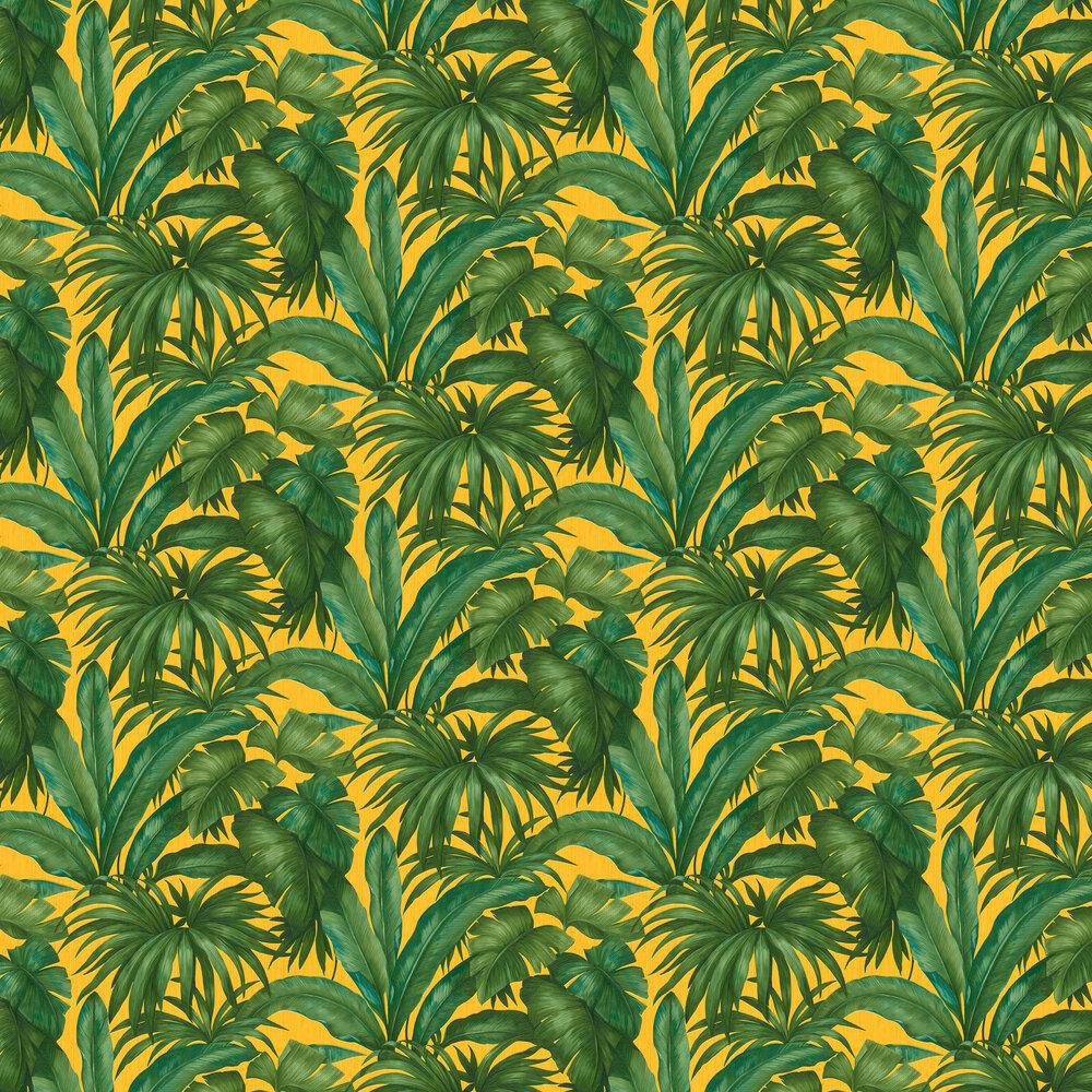 Versace Giungla Green / Yellow Wallpaper - Product code: 96240-3